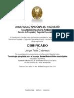 Certificado Investigacion