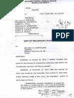 Regional Trial Court TRO vs CCBI Officers