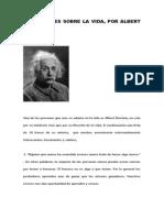 10 Lecciones Sobre La Vida Por Albert Einstein