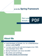 Spring Framework Intro Rob Lambert