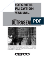 Ultraseal Shotcrete Product Manual