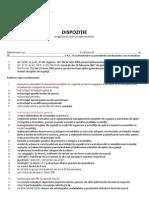Dispozitie PSI - Organizarea Instruirii Personalului