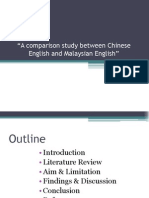 A Comparison Study Between Chinese English and Malaysian English
