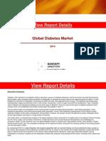 Global Diabetes Market Report