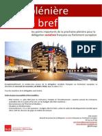 Briefing de plénière - novembre II 2014