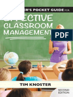 Teacher's Pocket Guide for Effective Classroom Management, The - Knoster, Timothy [SRG]