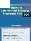 Exchange Programme Briefing_Fall 2013