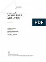 Matrix Structural Analysis Mcguire 2nd Ed Solutions
