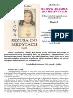 Słowa Jezusa Do Medytacji J. Lorber