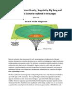 Secret of Quantum Gravity, Singularity, Big Bang and Ekpyrotic Scenario explored in two pages