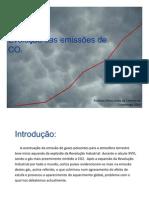 Evolução das emissões de CO2 - antes de Copenhaga 2009