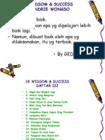 18 Widsom & Success