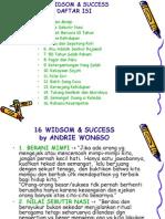 16 Widsom & Success