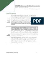 UT Dallas Syllabus for ecs3390.502.07f taught by Elizabeth Bell (lxb032000)