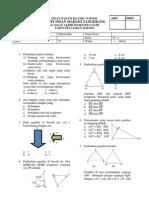 UAS Matematika Kelas 9 2014-2015