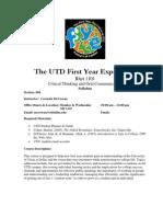 UT Dallas Syllabus for rhet1101.004.07f taught by Cornelia Mccowan (mccowan)