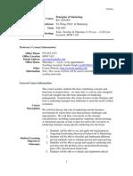 UT Dallas Syllabus for ba3365.004.07f taught by Yu Wang (yxw078000)
