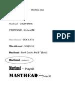 Masthead Ideas
