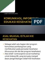 Komunikasi Informasi Edukasi Kesehatan