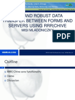WWRUG10 RRR Chive Data Transfer