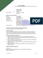 UT Dallas Syllabus for biol3351.001.07f taught by Gail Breen (breen)