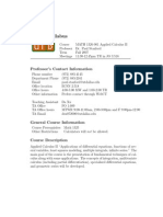 UT Dallas Syllabus for math1326.001.07f taught by Paul Stanford (phs031000)