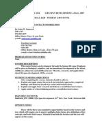 UT Dallas Syllabus for psy4334.001.07f taught by John Santrock (santrock)