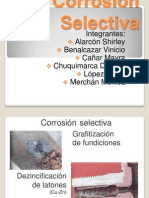 Corrosion selectiva