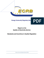 ECRB Report on the Quality of Electricity Service Standards and Incentives in Quality Regulation