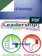 Top 5 Learnings