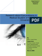 Research About Eye Problems in Medical Students