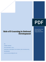 Role of E Learning in National Development