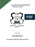 Electronics Circuits Lab I