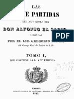 Historia Siete Partidas Del Rey