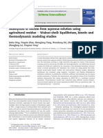 Adsorption of Cesium From Aqueous Solution Using