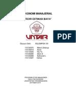 Kelompok VIII-Estimasi Biaya EKMAN