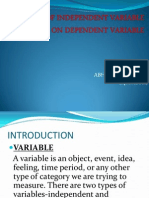 Ppt on Effect of Independent Variable on Dependent Variable