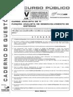 Funcab 2010 Prodam Am Analista de Ti Desenvolvimento de Sistemas Prova