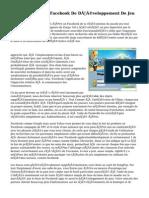 De L'IPhone Et De Facebook De Développement De Jeu