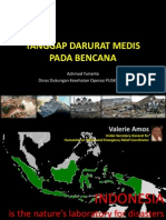 Tanggap Darurat Medis Pada Bencana