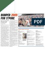 Bumper 2009 for S'pore, 19 Dec 2009, Straits Times