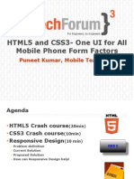 Presentation - Html5 and CSS3