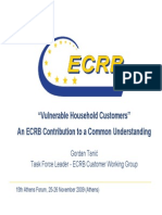 Vulnerable Household Customers an ECRB Contribution to a Common Understanding