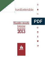 Bavaria Informe de Desarrollo Sostenible 2013