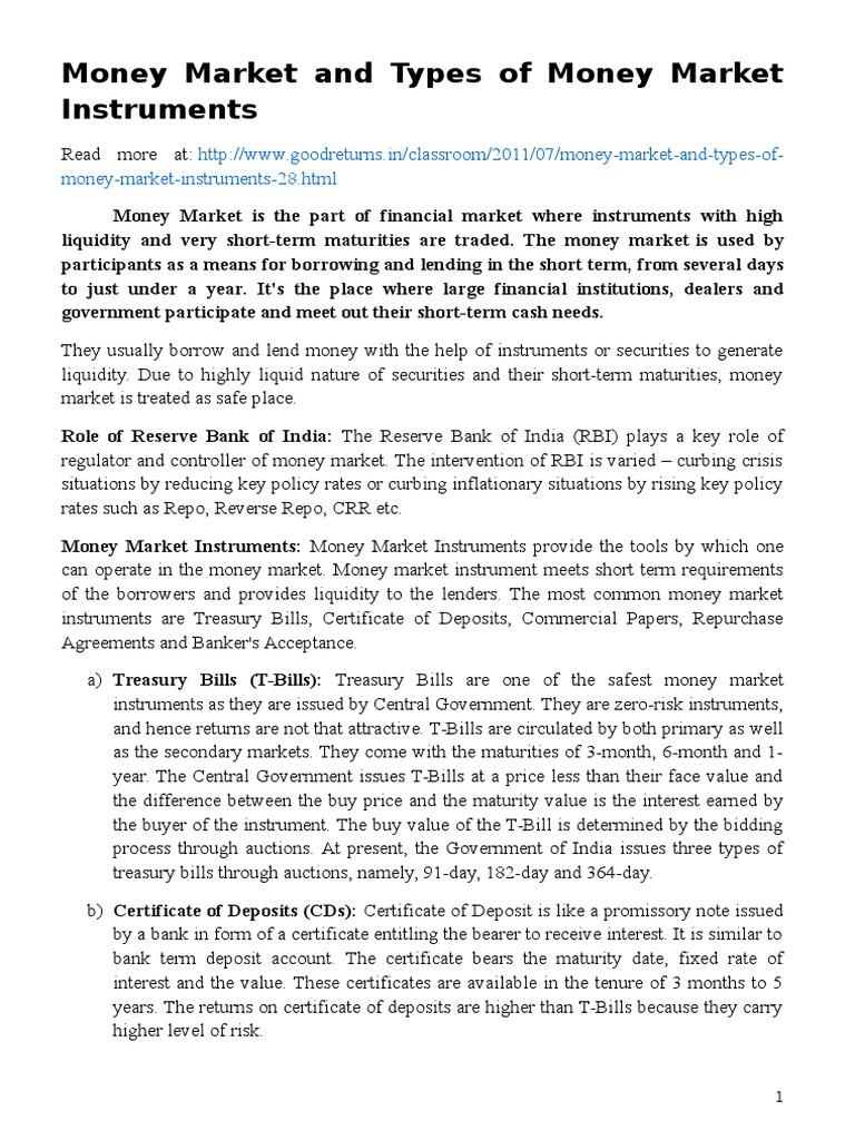 Money market repurchase agreement money market xflitez Gallery