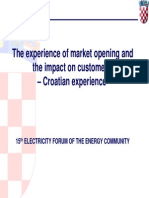 The Experience of Market Opening and the Impact on Customers –Croatian Experience
