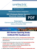 SEE Wholesale Market Opening Electricity Industry View Eurelectric