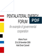 PENTALATERAL ENERGY FORUM an Example of Governmental Cooperation