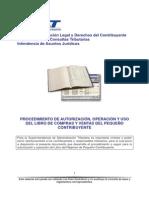 Autorizacion y Operacion Libro Pc