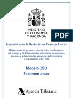 Instrucciones Modelo 190 (Resumen Anual de Retenciones)